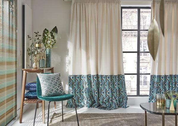 gordijn oogt bijzonder chic en geeft de woonruimte een artistiek tintje gouden en zilveren accenten benadrukken de pracht van het decor en zorgen voor